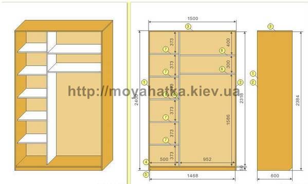 Как сделать шкаф-купе проекты 710